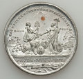 Betts Medals, Betts-610. 1783 Treaty of Paris. White Metal, with copper plug.XF....