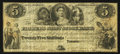 Canadian Currency: , Toronto, UC - The Farmer's Joint Stock Bank $5 Feb. 1, 1849 Ch. #280-12-06. ...