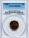 Proof Indian Cents, 1890 1C PR65 Red PCGS....