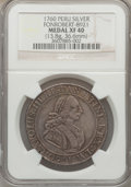 Betts Medals, Betts-469. 1760 Charles III American Proclamation Medal. Silver.XF40 NGC....