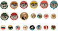 Non-Sport Cards:Lots, 1890's-1940's Non-Sports Pin back Collection (46) With Dogs,Aviators and Flags. ...