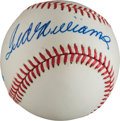 Baseball Collectibles:Balls, Ted Williams Single Signed Baseball....