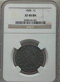 Large Cents, 1808 1C XF40 NGC. S-279, B-3, R.1....