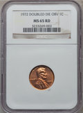 Lincoln Cents: , 1972 1C Doubled Die Obverse MS65 Red NGC. NGC Census: (578/181).PCGS Population (1240/525). Mintage: 75,000. Numismedia Ws...