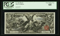 Large Size:Silver Certificates, Fr. 268 $5 1896 Silver Certificate PCGS Very Choice New 64.. ...(Total: 2 items)