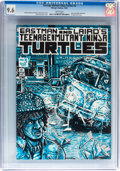 Modern Age (1980-Present):Superhero, Teenage Mutant Ninja Turtles #3 (Mirage Studios, 1985) CGC NM+ 9.6White pages....