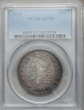 Bust Half Dollars: , 1810 50C AU55 PCGS. PCGS Population (71/130). NGC Census: (54/163).Mintage: 1,276,276. Numismedia Wsl. Price for problem f...
