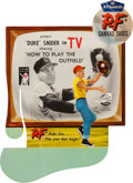 "Baseball Collectibles:Others, 1956 P.F. Flyers ""Big League Baseball Stars on TV"" AdvertisingSign...."