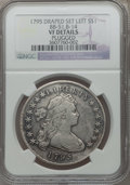 Early Dollars, 1795 $1 Draped Bust, Set Left, B-14, BB-51, R.2 -- Plugged -- NGCDetails. VF. NGC Census: (0/1). PCGS Population (0/7)....