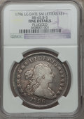 Early Dollars, 1796 $1 Large Date, Small Letters, B-5, BB-65, R.2 -- Plugged --NGC Details. Fine. PCGS Population (0/1...