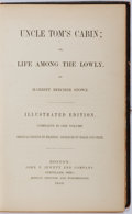 Books:Fiction, Harriet Beecher Stowe. Uncle Tom's Cabin; or, Life Among the Lowly. John P. Jewett and Company, 1853. Early illu...