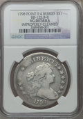 Early Dollars, 1798 $1 Large Eagle, Pointed 9, Four Berries, B-8, BB-125 --Improperly Cleaned -- NGC Details. VG. PCGS...
