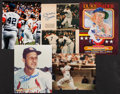 Baseball Collectibles:Photos, Baseball Greats Signed Photographs Lot of 5 - With Mantle, Aaron, Etc....