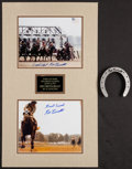 Miscellaneous Collectibles:General, Ron Turcotte Dual Signed Photograph Display....