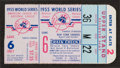 Baseball Collectibles:Tickets, 1955 World Series Game 6 Ticket Stub....