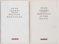 Books:Fiction, Adam Thorpe. Two INSCRIBED First Editions: Mornings in the Baltic [and:] Meeting Montaigne. Secker &... (Total: 2 Items)