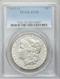 Morgan Dollars: , 1895-O $1 AU50 PCGS. PCGS Population (509/1388). NGC Census:(381/1841). Mintage: 450,000. Numismedia Wsl. Price for proble...