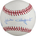 Miscellaneous Collectibles:General, Triple Crown Horse Racing Winners Multi Signed Baseball. ...