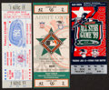 Baseball Collectibles:Tickets, 1977-99 Major League All Star Game Tickets Lot of 3....