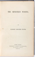 Books:Literature Pre-1900, Harriet Beecher Stowe. The Minister's Wooing. Derby and Jackson, 1859. First edition. Publisher's original blind...
