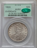 Bust Half Dollars: , 1824 50C Overdate AU50 PCGS. CAC. PCGS Population (10/67). NGCCensus: (4/49). Numismedia Wsl. Price for problem free NGC/...