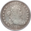 Early Dollars, 1796 $1 Small Date, Large Letters --Surface Tooled -- PCGS Genuine.VF Details. B-4, BB-61, R.3....