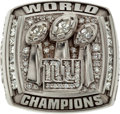 Football Collectibles:Others, 2007 New York Giants Super Bowl XLII Championship Player Ring with Display Box....