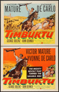 "Movie Posters:Adventure, Timbuktu (United Artists, 1959). Half Sheets (2) (22"" X 28"") StyleA & B. Adventure.. ... (Total: 2 Items)"
