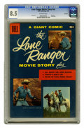 Silver Age (1956-1969):Adventure, Dell Giant Comics Lone Ranger Movie Story File Copy (Dell, 1956) CGC VF+ 8.5 Off-white pages. Saddle up for some wild Wester...
