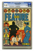 Golden Age (1938-1955):Miscellaneous, Feature Comics #59 Rockford pedigree (Quality, 1942) CGC VF/NM 9.0 Cream to off-white pages. Uncle Phil's shadow boxing seem...