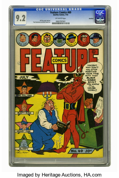 Feature Comics 69 Rockford Pedigree Quality 1943 Cgc Nm Lot