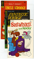 Bronze Age (1970-1979):Miscellaneous, Gold Key Group (Gold Key, 1969-73) Condition: Average VF+. IncludesBullwinkle #9 (4 copies), Fantastic Voyage #1 (4... (Total: 11Comic Books)
