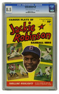 Golden Age (1938-1955):Miscellaneous, Jackie Robinson #6 (Fawcett, 1952) CGC VF+ 8.5 Cream to off-white pages. Photo front and back covers. Overstreet 2006 VF 8.0...