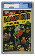 Golden Age (1938-1955):Funny Animal, Jamboree Comics #1 (Round, 1946) CGC NM 9.4 Cream to off-white pages. Funny animal stories. Overstreet 2005 NM- 9.2 value = ...