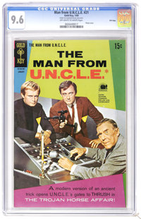 Man from U.N.C.L.E. #21 File Copy (Gold Key, 1969) CGC NM+ 9.6 Off-white to white pages. Photo cover. Highest CGC grade...