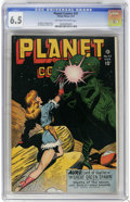 Golden Age (1938-1955):Science Fiction, Planet Comics #47 (Fiction House, 1947) CGC FN+ 6.5 Off-white towhite pages. Lily Renee, George Evans, and Murphy Anderson ...