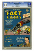 Golden Age (1938-1955):Non-Fiction, Real Fact Comics #9 (DC, 1947) CGC NM- 9.2 White pages. This bookhas Simon and Kirby art as well as an eclectic mix of feat...