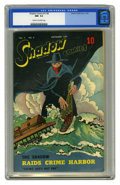 Golden Age (1938-1955):Crime, Shadow Comics V7#8 (Street & Smith, 1947) CGC NM- 9.2 Cream to off-white pages. Two highly collectible characters, the Shado...