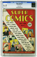 Golden Age (1938-1955):Cartoon Character, Super Comics #3 (Dell, 1938) CGC FN 6.0 Off-white pages. Overstreet2006 FN 6.0 value = $285. CGC census 6/06: 1 in 6.0, non...