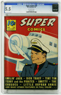 Golden Age (1938-1955):Miscellaneous, Super Comics #20 (Dell, 1940) CGC FN- 5.5 Off-white to white pages. Smilin' Jack cover. Overstreet 2006 FN 6.0 value = $141....