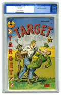 Golden Age (1938-1955):Miscellaneous, Target Comics V5#5 Mile High pedigree (Novelty Press, 1944) CGC NM 9.4 Off-white to white pages. The Cadet has to tangle wit...