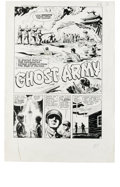 "Original Comic Art:Complete Story, Ray Bailey (attributed) - Warfront #36, Complete 5-page Story""Ghost Army"" Original Art (Harvey, 1965). This five-pager is d..."