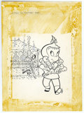 Original Comic Art:Covers, Warren Kremer - Little Audrey TV Funtime #10 Cover Original Art(Harvey, 1964). The shooting gallery booth is a mess, but Li...