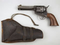Western Expansion:Cowboy, COLT SINGLE ACTION REVOLVER - Circa 1880-90. Mixed serial numbers:frame serial number 119949, D.F.C. inspected with U.S. o... (Total:2 Item)