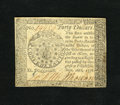 Colonial Notes:Continental Congress Issues, Continental Currency September 26, 1778 $40 Choice About New. Thisis a very lightly circulated example of this popular Cont...