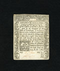 Colonial Notes:Connecticut, Connecticut July 1, 1780 20s New, CC. It has been four years sincewe last offered this denomination from this issue. The cu...