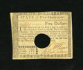 Colonial Notes:New Hampshire, New Hampshire April 29, 1780 $5 Choice About New+++, HOC. Awonderful example of this difficult, yet available cancelled New...
