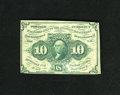 Fractional Currency:First Issue, Fr. 1242 10c First Issue About New. There are not any clearly defined folds but just too much handling to justify a New grad...