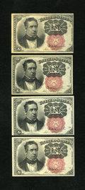 Fractional Currency:Fifth Issue, Fr. 1266 10c Fifth Issue. Four Examples. Extremely Fine-About Newor Better. One note has toned a shade.. ... (Total: 4 notes)