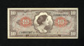 Military Payment Certificates:Series 641, Series 641 $10 Extremely Fine-About New. This note is from thethird printing for this denomination and series....